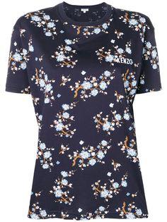 Kenzo футболка с цветочным принтом