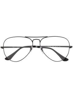 Ray-Ban массивные очки в круглой оправе