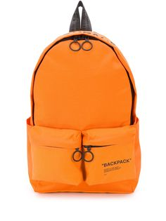 Off-White QUOTE BACKPACK ORANGE BLACK