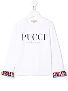 Emilio Pucci Junior рубашка с контрастными манжетами