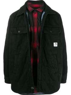 Diesel стеганая куртка со съемной подкладкой