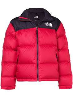 The North Face пуховик в стиле колор-блок