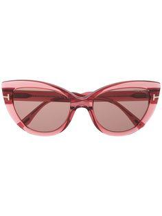 Tom Ford Eyewear солнцезащитные очки в оправе кошачий глаз