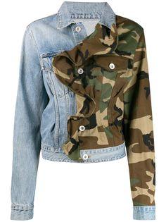 Unravel Project джинсовая куртка со вставками и оборками