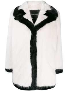 Emporio Armani пальто с контрастными вставками