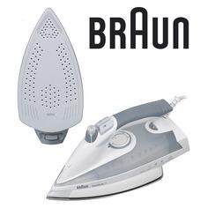 Утюг BRAUN TS775TP, 2400Вт, серый/ белый [0x12711025]