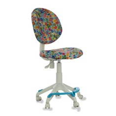 Кресло детское БЮРОКРАТ KD-W6-F, на колесиках, сетка, аквариум на голубом фоне [kd-w6-f/aqua]