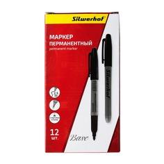 Маркер перманентный Silwerhof Base 088030-01 пулевидный пиш. наконечник 2.5мм черный коробка 12 шт./кор.