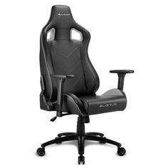 Кресло компьютерное игровое Sharkoon Elbrus 2 Black/Grey