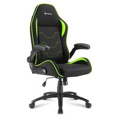 Кресло компьютерное игровое Sharkoon Elbrus 1 Black/Green