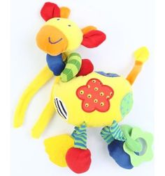 Развивающая игрушка Leader Kids Желтый жираф музыкальный