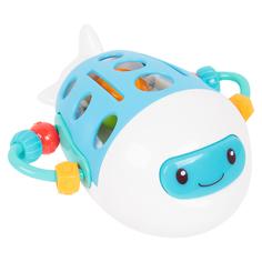 Развивающая игрушка Игруша Самолет (бело-голубой) 13 х 12 х 9 см