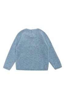 Голубой джемпер с вышивкой Il Gufo