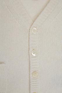 Белый вязаный кардиган Bonpoint
