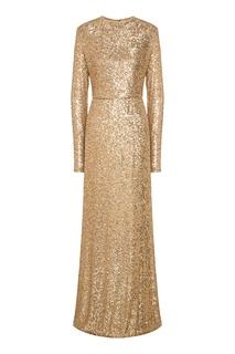 Золотистое платье макси с пайетками Yana Dress