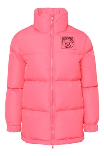 Красная куртка с логотипом Teddy Bear Moschino