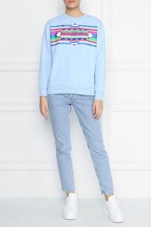 Светло-голубой свитшот с ярким принтом Bosco Fresh