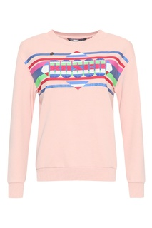 Светло-розовый свитшот с ярким логотипом Bosco Fresh
