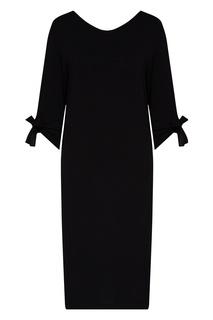 Черная ночная сорочка с кружевной отделкой La Perla