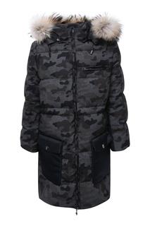 Удлиненная куртка с накладными карманами Manudieci