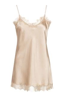 Розовая блузка-комбинация с кружевом MAX & MOI