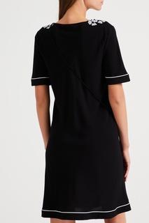 Черная ночная сорочка с вышивкой La Perla