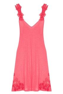 Розовая трикотажная сорочка La Perla