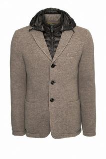 Коричневая куртка со съемным жилетом Moo Rer