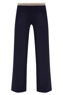 Синие трикотажные брюки La Perla