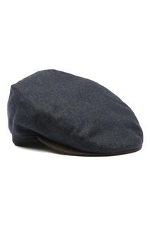 Темно-синяя шерстяная кепка Lardini