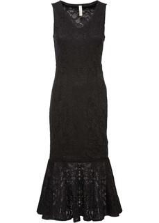 Вечерние платья Платье миди с кружевом Bonprix