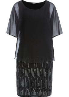 Платье в блестящем дизайне Bonprix