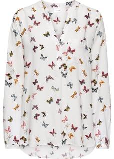 Блузки с длинным рукавом Блузка с V-образным вырезом Bonprix