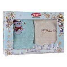 Полотенца для рук Набор из 2 полотенец для рук (30x50 см) Новогодний Hobby Home Collection