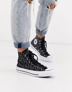Черные высокие кеды с монограммой Converse Chuck 70-Черный