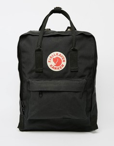 Черный рюкзак Fjallraven Kanken - 16 л