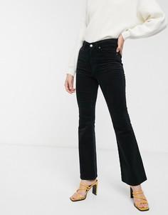 Вельветовые расклешенные джинсы Dr Denim-Черный
