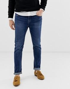 Синие джинсы скинни Bershka-Синий