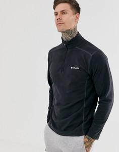 Черная флисовая куртка с воротом на молнии Columbia Klamath-Черный