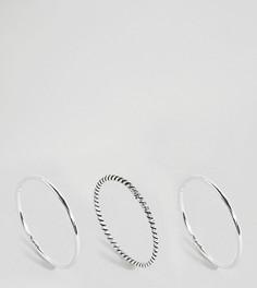 Эксклюзивный набор из 3 серебряных колец Kingsley Ryan-Серебряный