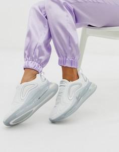 Белые кроссовки с серебристыми вставками Nike Air Max 720-Белый