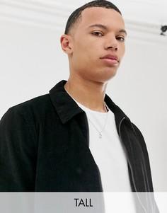 Вельветовая куртка на молнии Another Influence Tall-Черный
