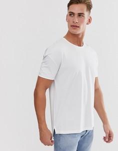 Белая oversize-футболка Selected Homme-Белый