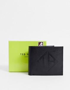 Черный кожаный бумажник двойного сложения Ted Baker Meoe