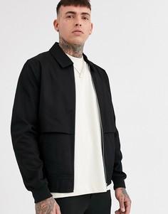 Черная куртка Харрингтон от комплекта ASOS DESIGN-Черный