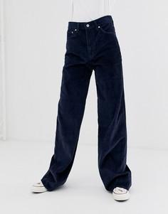 Темно-синие широкие джинсы Levis-Синий