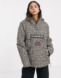 Куртка с леопардовым принтом Napapijri Rainforest-Черный