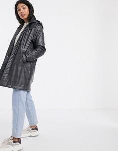 Непромокаемый макинтош в клетку Rains-Серый