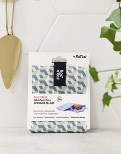Черная сумка для снэков с мозаичным принтом Rolleat-Серый