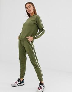 Спортивный костюм со свитшотом и джоггерами ASOS DESIGN-Зеленый